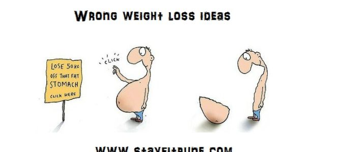 What you should not do when losing weight