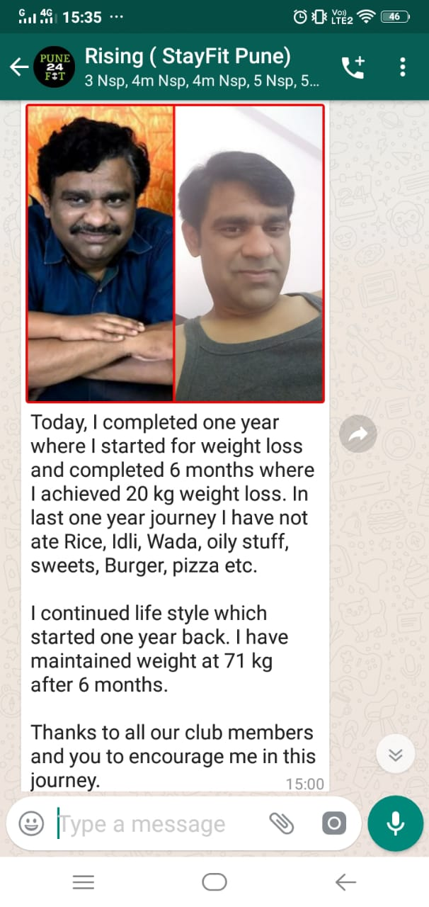 Weight loss result in Pune
